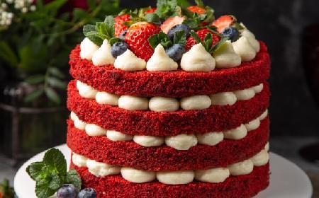 Tort red velvet - przepis na czerwone ciasto z kremem