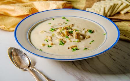 Zupa krem z karpia gotowanego w mleku